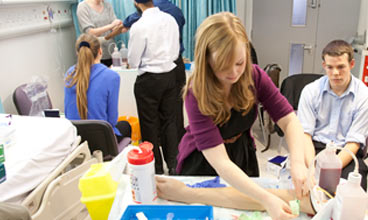 Manchester Medical School student gaining clinical experience
